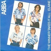7inch Vinyl Single - Abba - The Winner Takes It All / Elaine - blue injection label