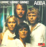 7inch Vinyl Single - Abba - Gimme! Gimme! Gimme! (A Man After Midnight)