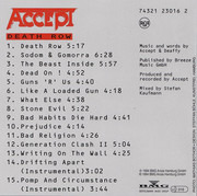 CD - Accept - Death Row