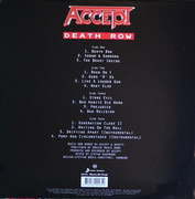 Double LP - Accept - Death Row - 180G