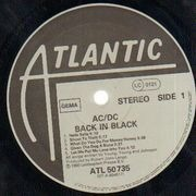 LP - AC/DC - Back In Black - embossed