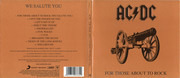 CD - AC/DC - For Those About To Rock (We Salute You) - Digipak
