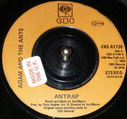7inch Vinyl Single - Adam And The Ants - Ant Rap - Amber Injection Labels