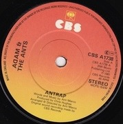 7'' - Adam And The Ants - Ant Rap - Paper Labels