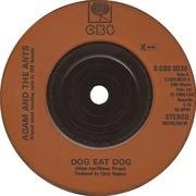 7'' - Adam And The Ants - Dog Eat Dog - Orange injection label