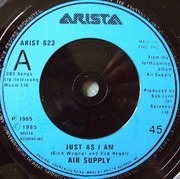 7inch Vinyl Single - Air Supply - Just As I Am