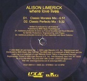 2 x 12inch Vinyl Single - Alison Limerick - Where Love Lives