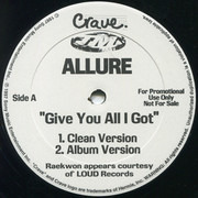 12inch Vinyl Single - Allure - Give You All I Got
