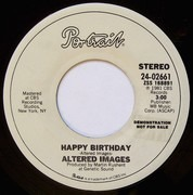 7inch Vinyl Single - Altered Images - Happy Birthday