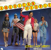 7inch Vinyl Single - American People - Lonely Lady Liberty