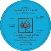 LP - Dvořák, Brahms / Bruno Walter, Columbia Symphony Orchestra - Symphony No. 4 / Academic Festival Overture