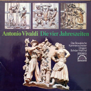 LP - Antonio Vivaldi - Slovak Chamber Orchestra , Dirigent Bohdan Warchal - Die Vier Jahreszeiten