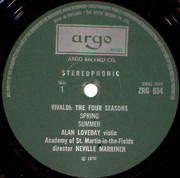 LP - Antonio Vivaldi - The Academy Of St. Martin-in-the-Fields Director Sir Neville Marriner With Alan L - The Four Seasons