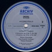 LP - Antonio Vivaldi , English Concert , Simon Standage , Trevor Pinnock - Le Quattro Stagioni