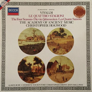 LP - Antonio Vivaldi , The Academy Of Ancient Music , Christopher Hogwood - Le Quattro Stagioni
