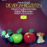 LP - Antonio Vivaldi / Michel Schwalbé , Solo-Violine, Berliner Philharmoniker , Herbert Von Karajan - Die Vier Jahreszeiten
