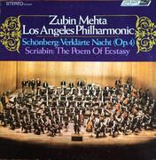 LP - Arnold Schoenberg / Alexander Scriabine - Zubin Mehta , Los Angeles Philharmonic Orchestra - Verklärte Nacht (Op.4) / The Poem Of Ecstasy - Gatefold