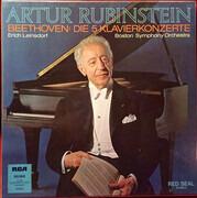 LP-Box - Beethoven - Rubinstein , Leinsdorf - Die 5 Klavierkonzerte - 1 record missing! Hardcoverbox + Booklet