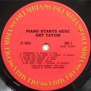 LP - Art Tatum - Piano Starts Here