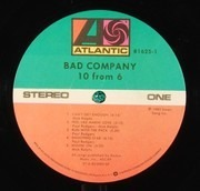 LP - Bad Company - 10 From 6