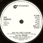 7'' - Bad Manners - Just A Feeling - Solid Centre