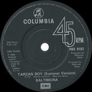 7inch Vinyl Single - Baltimora - Tarzan Boy - Paper labels