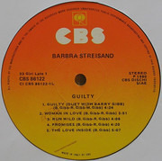 LP - Barbra Streisand - Guilty - Gatefold Sleeve