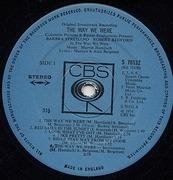 LP - Barbra Streisand / Marvin Hamlisch - The Way We Were