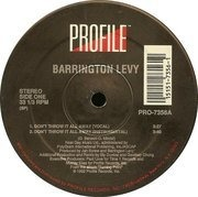 12inch Vinyl Single - Barrington Levy - Don't Throw It All Away / Something In My Heart (Dancehall Music)