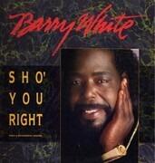 12'' - Barry White - Sho' You Right - Promo + White Vinyl