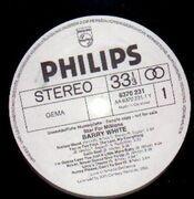 LP - Barry White - Star for Millions - white label