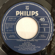 7inch Vinyl Single - Barry White - I´m qualified to satisfy you
