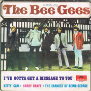 7inch Vinyl Single - Bee Gees - I've Gotta Get A Message To You - Oiginal Portuguese EP