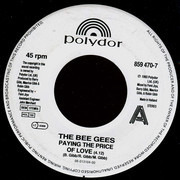 7inch Vinyl Single - Bee Gees - Paying The Price Of Love