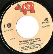 7inch Vinyl Single - Bee Gees - Too Much Heaven / Rest Your Love On Me