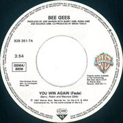 7inch Vinyl Single - Bee Gees - You Win Again