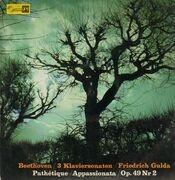 LP - Beethoven - 3 Klaviersonaten,, Friedrich Gulda