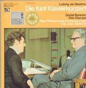 LP-Box - Beethoven - Die fünf Klavierkonzerte,, Barenboim, Klemperer, New Philharmonia Orch. London - Hardcover Box + Booklet