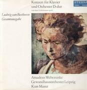 LP - Beethoven - Konzert für Klavier und Orch D-dur,, Amadeus Webersinke, Gewandhausorch Leipzig, Masur