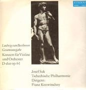 LP - Beethoven - Konzert für Violine und Orch D-dur op61, J.Suk, Tschechische Philh, Konwitschny