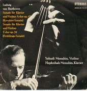 LP - Beethoven - Kreutzer-Sonate & Frühlings-Sonate,, Y. Menuhin (Violine), H. Menuhin (Klavier)