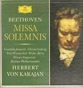 Double LP - Beethoven/ Karajan, Berliner Philharmoniker - Missa Solemnis D-Dur Op. 123 - box , tulip rim