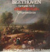 LP - Beethoven - Pastorale, 12 Kontretänze,, Berliner Philh, Maazel