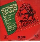 LP - Beethoven - Piano Concert No.5,, Clifford Curzon, G. Szell, London Philh Orch - with a big scratch