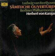 Double LP - Beethoven - Sämtliche Ouvertüren, Berliner Phil, Karajan - gatefold