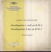 LP - Beethoven - Steichquartette c-moll Nr.4, A-dur Nr.5; Koeckert-Quartett