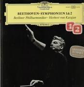 LP - Beethoven - Symphonien 1&2,, Berliner Philh, Karajan