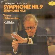 Double LP - Beethoven - Symphonie Nr.9&8,, Wiener Philh, Böhm