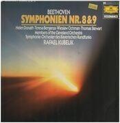 Double LP - Beethoven - Symphonien Nr.8&9,, Symphonie-Orch des Bayerischen Rundfunks, Kubelik