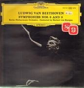Double LP - Beethoven - Symphonies Nos.8 and 9; Berlin Philh. Orch, Cond. H.v. Karajan